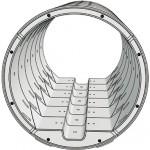 3D-Ansicht des Druckstollen nicht in Skala