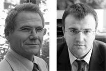 Siegfried Tutzer und Giuseppe Avolio Etschwerke AG
